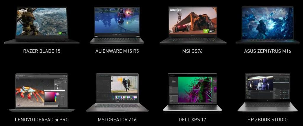 NVIDIA RTX Laptop 2021