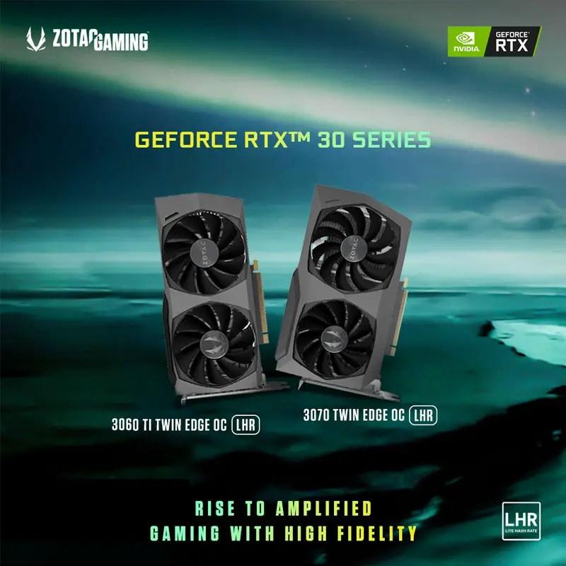 ZOTAC GeForce RTX 3070 3060 Ti Twin Edge OC LHR