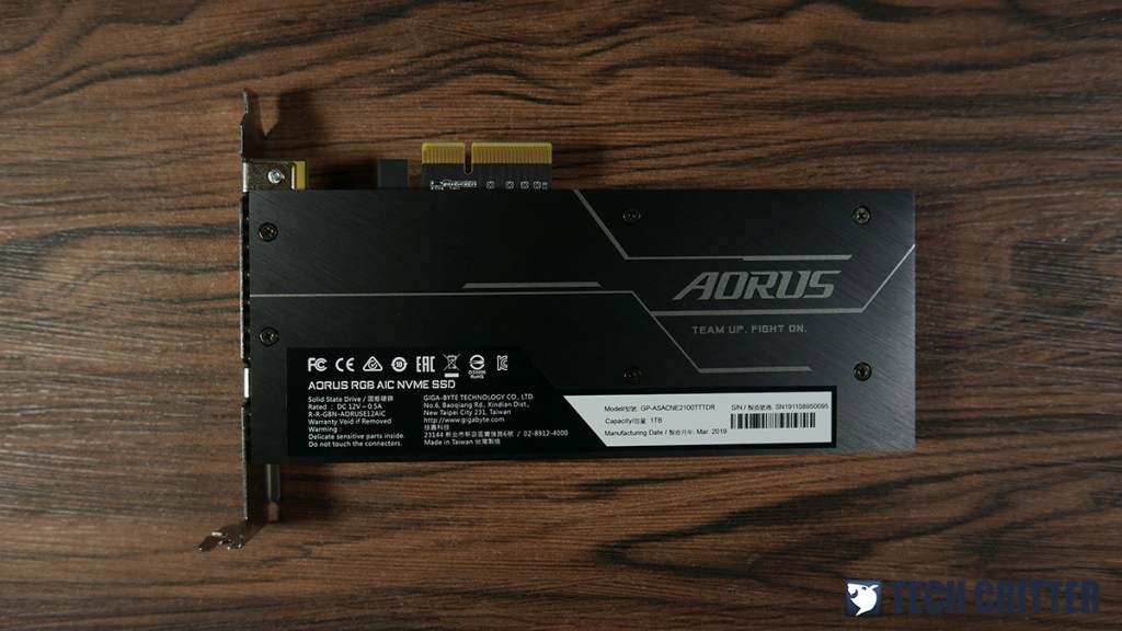 Review: Gigabyte AORUS RGB AIC NVMe SSD 1TB 1