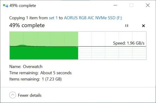 AORUS RGB AIC NVMe SSD Copy to SSD
