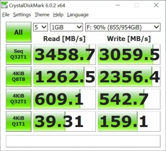 AORUS RGB AIC NVMe SSD CrystalDiskMark (2)