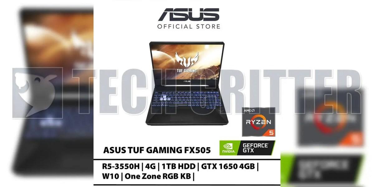 ASUS TUF FX505 with Ryzen + GTX 1650 leaks on Lazada