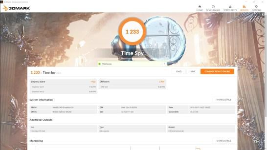 ASUS Vivobook S15 S531F Time Spy