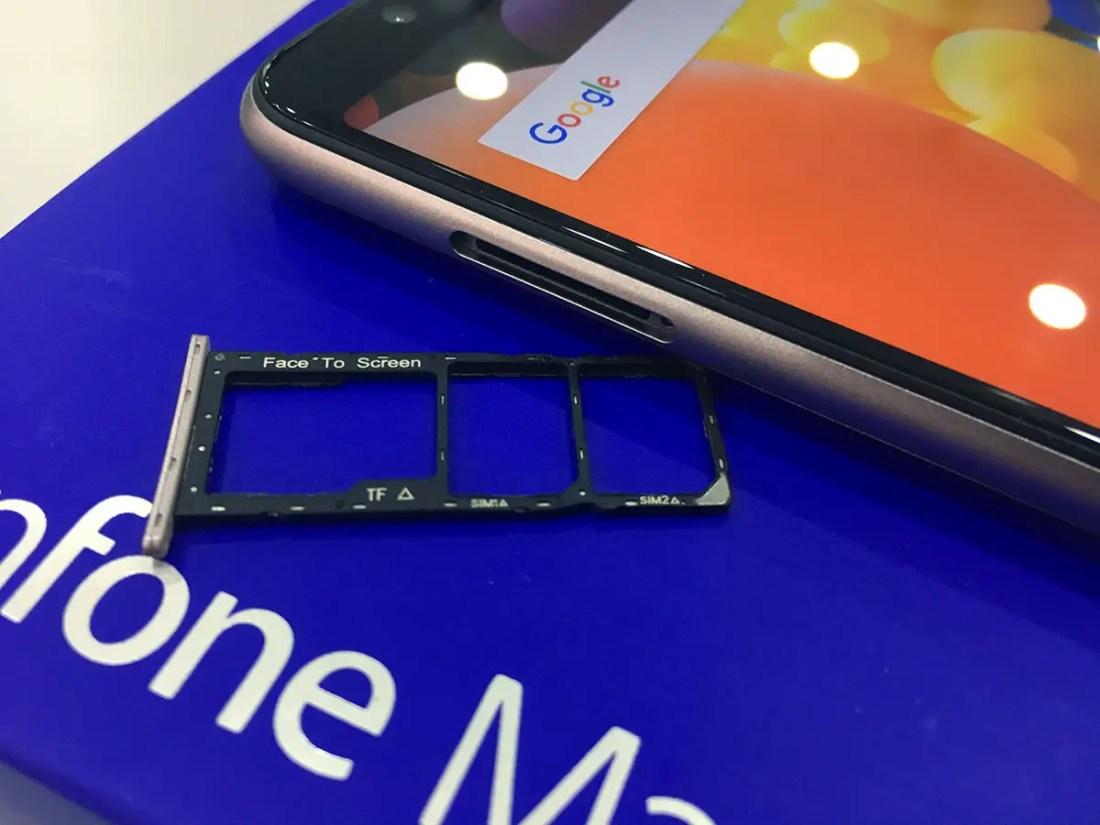 ASUS ZenFone Max Pro (M1) sim memory card slot