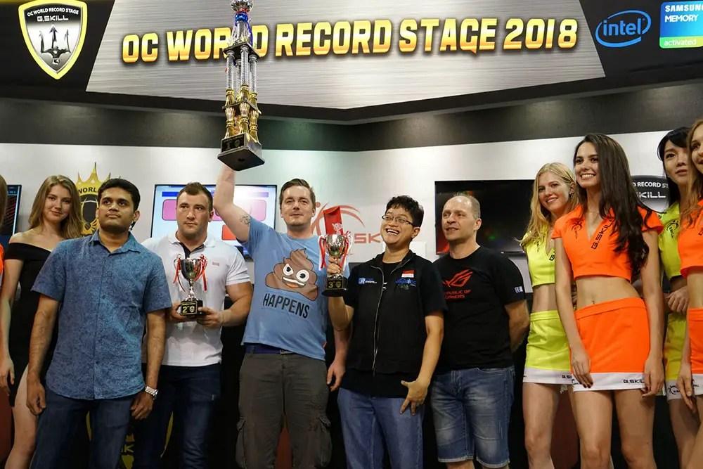 G.skill computex 2018 overclock All winners dancop