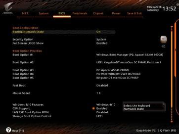 Gigabyte Z390 AORUS Master UEFI BIOS Classic Mode (3)