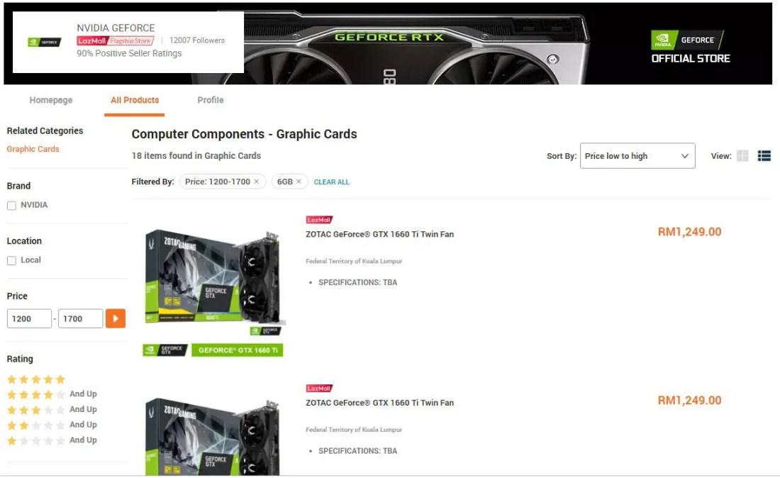 NVIDIA GeForce GTX 1660 Ti Turing TU116-400 GPU Lazada