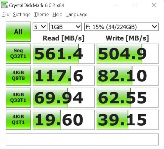 Phidisk WrathKeeper CrystalDiskMark benchmark