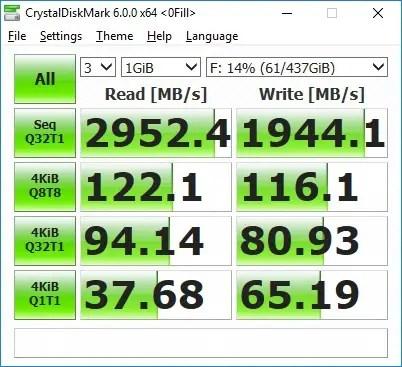 Plextor M9PeY CrystalDiskMark (0fill)