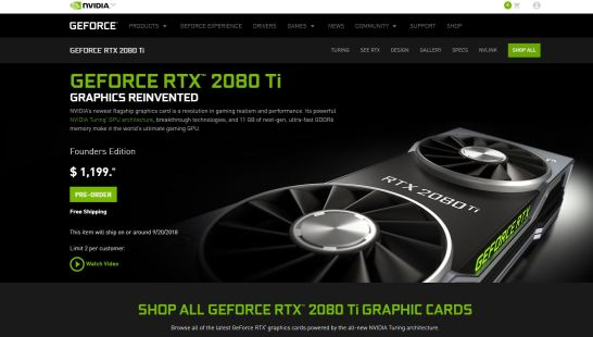 RTX 2080 Ti official