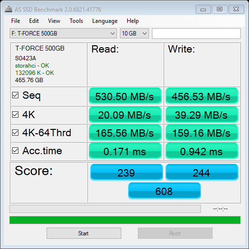 T-FORCE DELTA MAX 500GB AS SSD Benchmark 10GB (2)