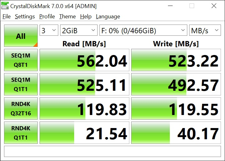 T-Force Delta Max 500GB 2GB Crystal Disk Mark (1)