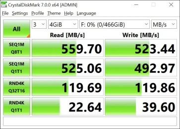 T-Force Delta Max 500GB 4GB Crystal Disk Mark (1)
