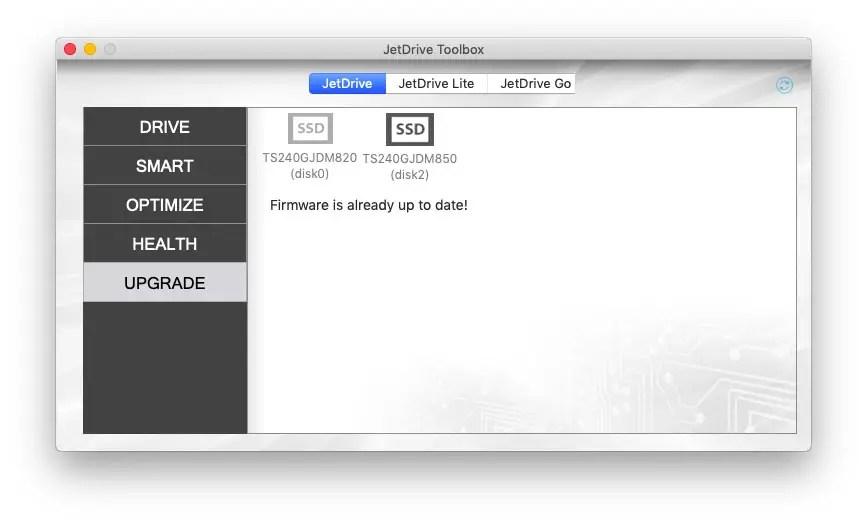 Transcend JetDriveToolbox for JetDrive 850 JetDrive 855