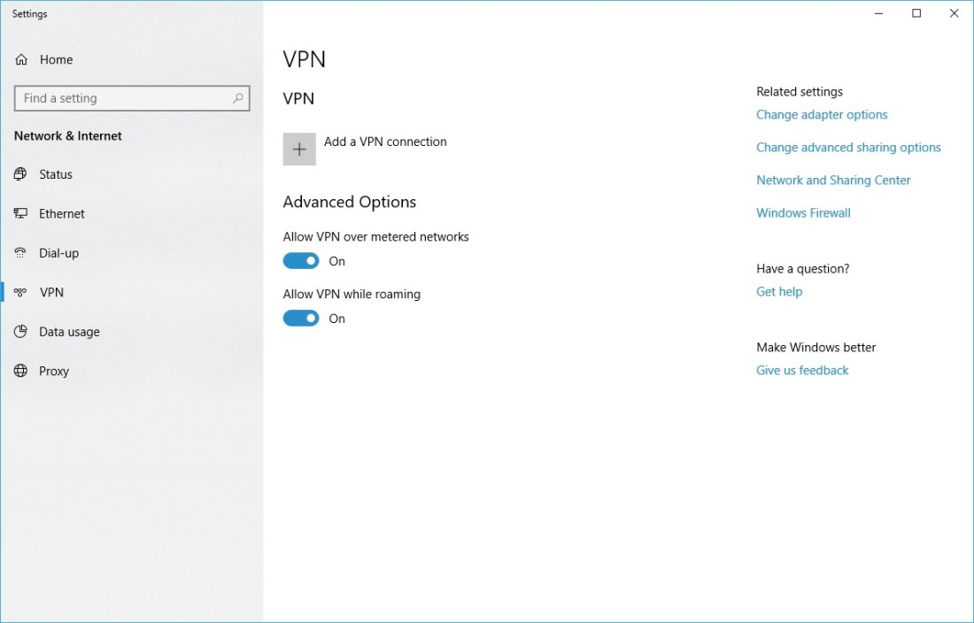 There is a Built-in VPN Client in Windows 10 5