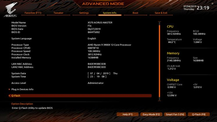 X570 AORUS Master BIOS (10)