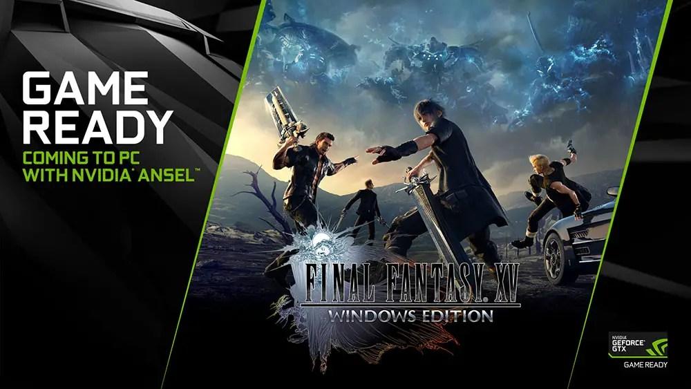 final fantasy xvv windows edition nvidia geforce game ready