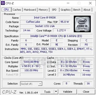 gigabyte z390 aorus xtreme i9 9900k 5GHz 1.28v