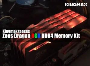 kingmax zeus dragon RGB ddr4 samsung b die ic header