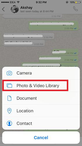 إرسال صور متحركة في واتساب علي الايفون