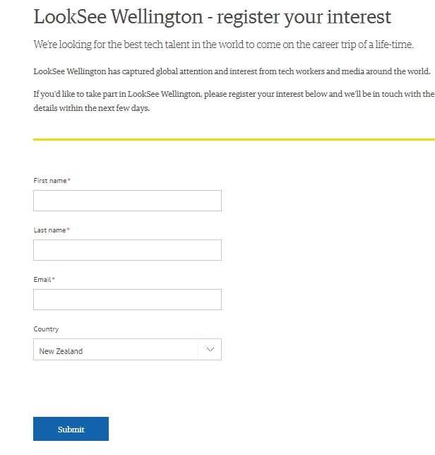فرصة للعمل في مجال التقنية في مدينة ولينغتون بنيوزيلندا