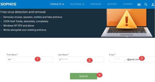 أفضل أداة مجانية لحذف الفيروسات والبرامج الضارة Sophos Virus Removal Tool