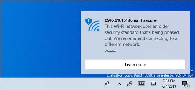 لماذا تظهر لديك رسالة شبكة الواي فاي Isn't Secure غير آمنة في ويندوز 10
