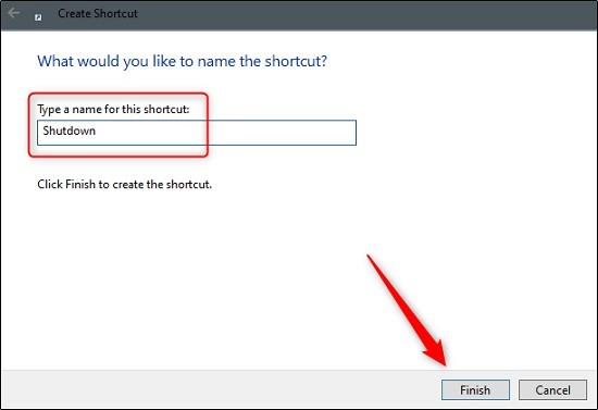 كيفية إنشاء أيقونة لإيقاف تشغيل ويندوز 10 بنقرة واحدة بسطح المكتب