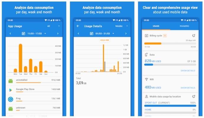 أفضل 5 تطبيقات لمراقبة استخدام بيانات الهاتف والواي فاي للاندرويد والايفون