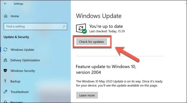 كيفية إصلاح مشكلة عدم إمكانية تثبيت التحديثات او توقفها في ويندوز 10