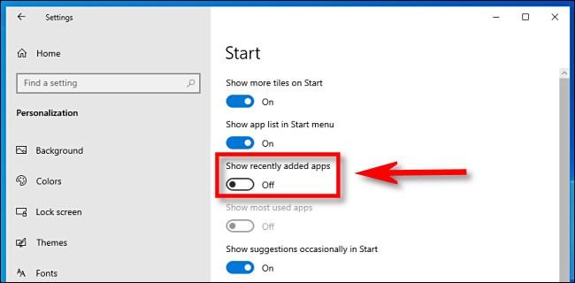 كيفية إزالة البرامج المضافة حديثاً في أعلي قائمة ابدأ في ويندوز 10