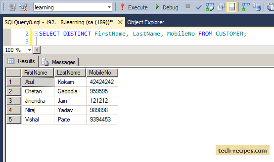 Finding Duplicates Records Using Group by in SQL Server (3)
