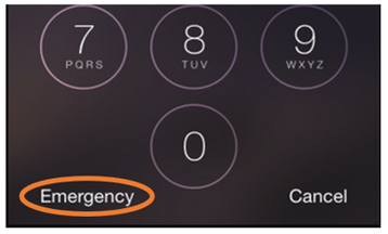 Emergency button on Passcode screen - iPhone 6