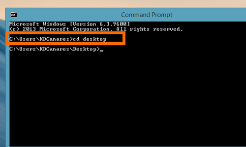 change drive using CD command