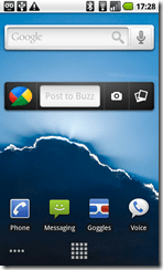 buzz widget_homescreen