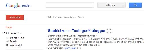 new google reader قوقل تطلق الشكل الجديد لخلاصات قوقل، وظهور اعتراضات من قبل بعض مستخدميه