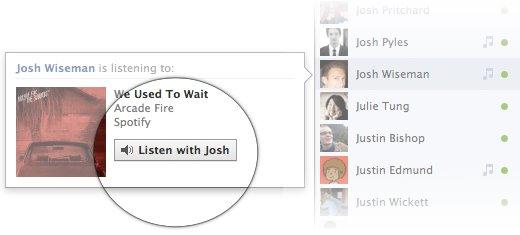 1 إستمع للموسيقى مع أصدقائك على الفيس بوك