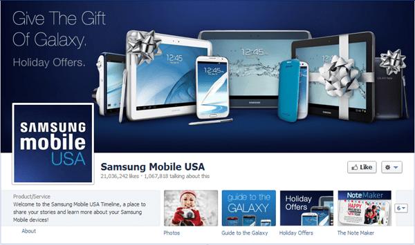 samsung facebook page