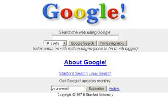 جوجل سنة 1997
