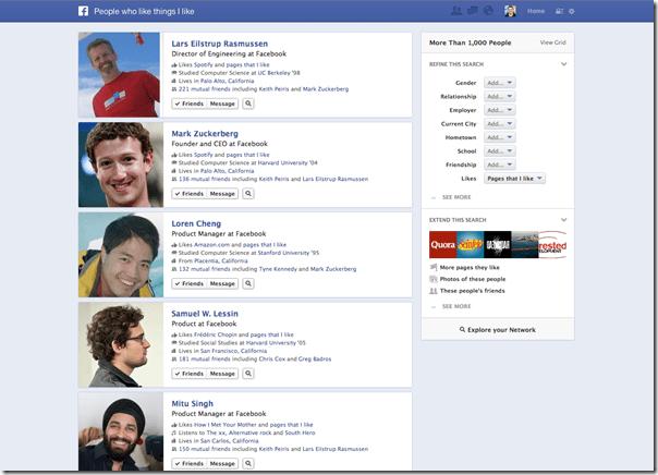 Graph Search 2 thumb الفيس بوك يكشف عن محرك بحثه الجديد Graph Search ( صور و فيديو )