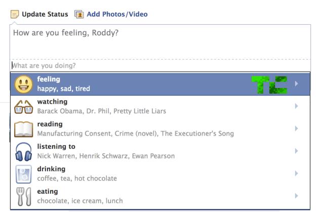 composer tc فيس بوك يختبر ميزه تحديث الحالة المزاجية على الشبكه
