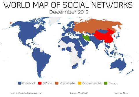 social network world map