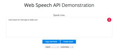 web speech api
