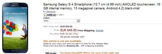 galaxy siv price