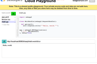 Cloud Playground