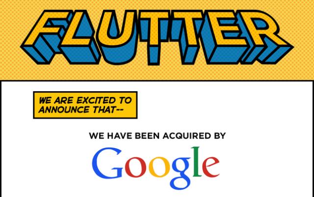 قوقل تستحوذ على Flutter
