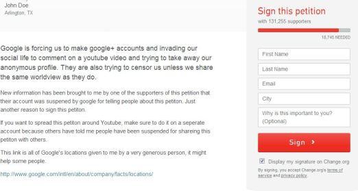 معارضة نظام تعليقات يوتيوب