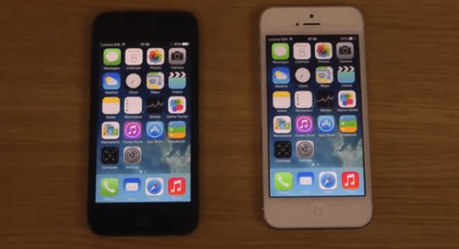 مقارنة بين iOS 7.1 بيتا و iOS 7.0.4