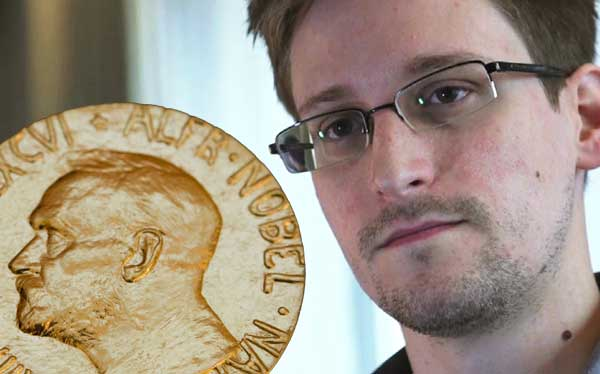 Snowden nominated for Nobel Peace Prize