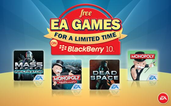 EA GAMES FREE BB 10